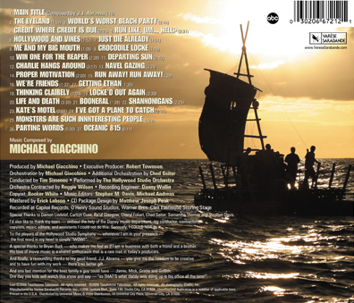 Original Television Soundtrack (season 1), backcover