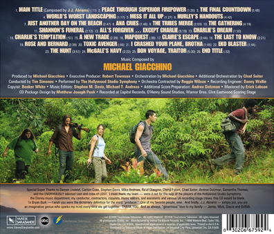 Original Television Soundtrack (season 2), backcover