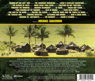 Original television soundtrack (season 5), backcover